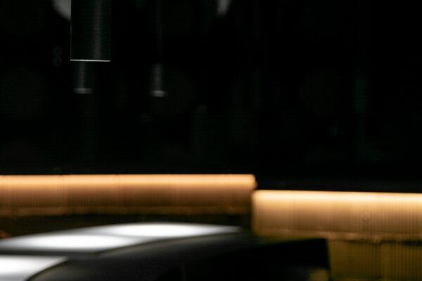 Fotografía arquitectónica. Mesa de cata en tres piezas dependientes
